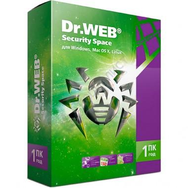 Dr.Web Security Space Комплексная защита (продление лицензии на 1 год на 1 ПК, электронная версия) [LHW-BK-12M-1-B3]