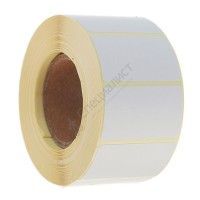Термоэтикетка шириной 43 мм, длиной 25 мм, 1000 шт. в рол. (43х25 ЕСО)