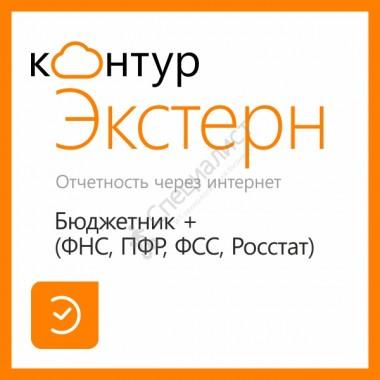 Контур.Экстерн Бюджетник + (ФНС, ПФР, ФСС, Росстат) на 12 мес.