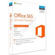 Microsoft Office 365 для дома (подписка на 1 год на 5 ПК/Mac + 5 планшетов, коробочная версия) [6GQ-00738]